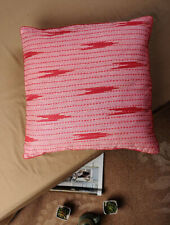 Kantha embroidery on Ikat -  Cushion cover