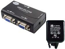 2way/Port SVGA/VGA Amplifier/Amp Duplicater/Multiplexor/Splitter PC/TV/Projector