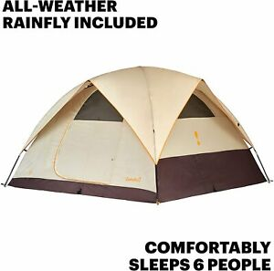 Eureka Sunrise EX 6 Person Tent 10'x10' 100 sf 3-Season Free Shipping NEW