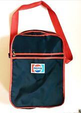 Pepsi Cola Vintage Messenger Cooler Insulated Vinyl Bag Scovill Zipper