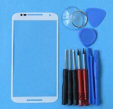White Motorola Moto X Style Pure XT1572 XT1575 Front Outer Screen Glass Lens