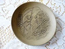 POOLE POTTERY STONEWARE PIN DISH BY BARBARA LINLEY ADAMS HARVEST / FIELD MICE