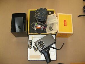 Kodak Instamatic M18 Movie Camera Super 8 with Instamatic Model 1 Movie Light