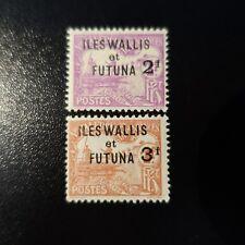 WALLIS ET FUTUNA TIMBRE TAXE N°9/10 NEUF ** LUXE MNH COTE 52€