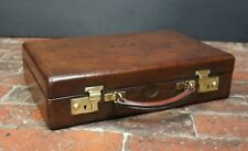 Beautiful Leather Antler Writing Case With Secret Compartment
