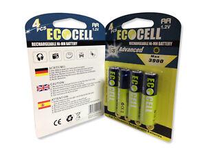 Akkus EcoCell - Aufladbare Batterien - NI-MH 3900mAh - AA - R06 1.2V - Mignon
