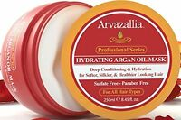 Arvazallia Argan Oil Hair Mask and Deep Conditioner Hydrating Dry Damaged 8.45oz