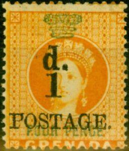 Grenada 1886 1d on 4d Orange SG39 V.F MNH