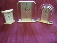 VINTAGE Seiko clocks with time alarm TRIFECTA OF SUPER QUALITY PRECISION GREAT+
