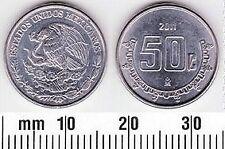 MEXICO 50 CENTAVO AUNC COIN # 2014