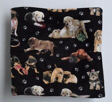 Dogs, paw prints Microwave hot bowl holder  FREE US SHIPPING cotton