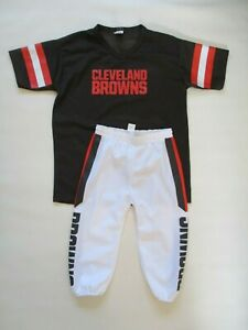 2 PC. Kids Youth Franklin Sports Cleveland Browns Football Jersey & Pants Set  L
