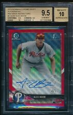 BGS 9.5 AUTO 10 ALEC BOHM 2018 Bowman Chrome RED WAVE REFRACTOR #/5 RC GEM MINT