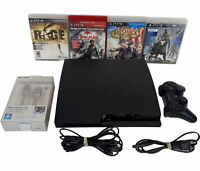 Sony PlayStation 3 PS3 Slim CECH-3001A Console Bundle - 4 Games & 1 Controller