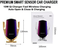 Wireless Car Phone Charger Auto Clamping Smart Sensor 10W Fast charger SILVER