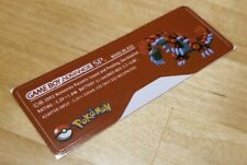 Nintendo Game Boy Advance SP GBA SP Pokemon Type 1 Sticker Label  MINT