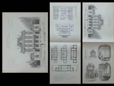 BAR LE DUC, CAISSE D'EPARGNE - PLANCHES ARCHITECTURE 1910 - ROYER