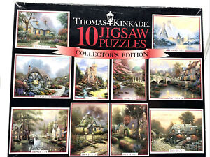 Thomas Kinkade puzzle 10 puzzles in one Painter of Light Collector's Edition