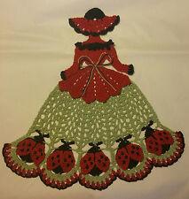 Crochet Crinoline Lady Doily - Ladybug