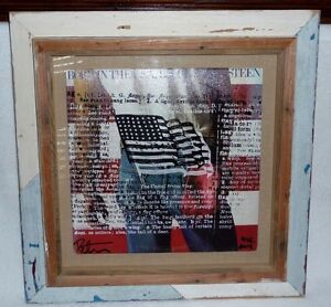 BRUCE SPRINGSTEEN, BORN IN THE USA by POP ARTIST PETER TUNNEY, AMERICAN FLAG