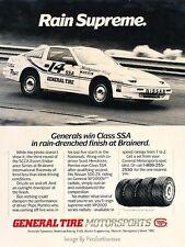 1987 Nissan 300ZX 300-ZX General  - Original Advertisement Print Art Car Ad J636