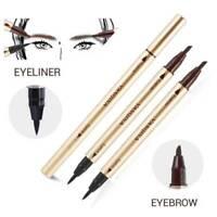 Dual-ended Liquid Eyeliner Pen + Eye Brow Pencil Waterproof Long Lasting Makeup