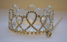 Beautiful Crystal Luxury Wedding Bridal Party /Pageant Prom Tiara Crown UK
