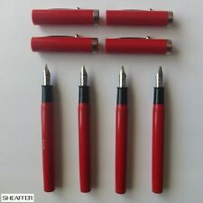 four SHEAFFER NoNonsense calligraphy fountain pens with corp. logo c.1985—unused