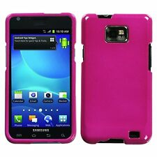For Samsung Galaxy S2 i9100 Attain Solid Hot Pink Phone Protector Case Cover