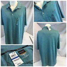 Greg Norman Play Dry Golf Shirt Xl Teal Blue Poly Nwt $50 Ygi G9-263