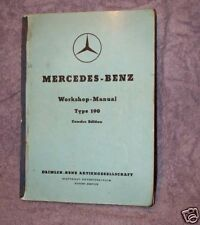MERCEDES-BENZ Workshop-Manual Type 190,Daimler 1959 GERMANY, In English