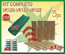 SACCHI SACCHETTI FILTRO + STOFFA + PROFUMINI PER FOLLETTO VORWERK VK 120 121 122