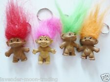 CUTE LUCKY TROLL DOLL KEYRING/Keychain/bag charm/pencil topper/figure/gift