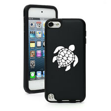 Black Apple iPod Touch 5th Generation Aluminum Silicone Hard Case Sea Turtle