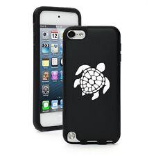 Black Apple iPod Touch 5th Generation Aluminum Silicone Hard Case Sea Turtle