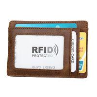 Leder Slimwallet Geldbörse Leder Cardprotector Magnet Etui Kreditkarten RFID