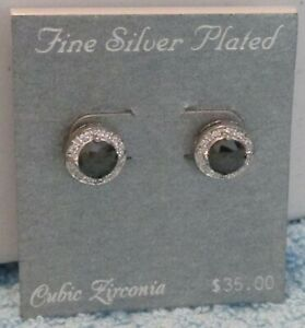 Fine Plated Silver Earrings Marcasite Crystals CZs - NWT - 17 Options Available