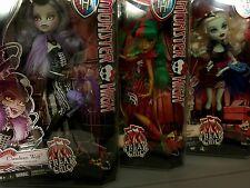 3 Monster High Freak Du Chic  Clawdeen Wolf~Jinafire Long~Frankie Stein~NRFB