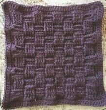 Crochet Pattern ~ BASKET WEAVE AFGHAN SQUARE ~ Instructions