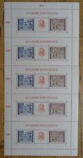 Österreich Briefmarken Großblock mit 5 x Block 3 sauber postfrisch Burgtheater