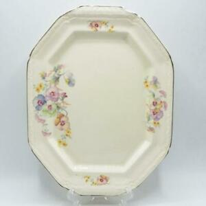 Edwin M Knowles China Co Made In USA 33-9 Semi Vitreous Platter 10x13