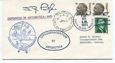 1971 Deep Freeze Staten Island Circumn. Antarctica Mawson Polar Cover SIGNED