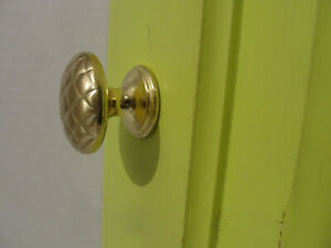 "5 Lot Amerock True Elegance BP1357-1 Sterling Brass 1 1/4"" Cabinet Knob Pulls"