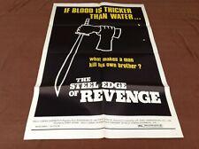1969 The Steel Edge Of Revenge Original Movie House Full Sheet Poster