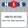 48470-4CC0A Nissan Cover set-steering column 484704CC0A, New Genuine OEM Part