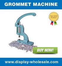 "Grommet Machine + Die Set + 1000 Grommets Pieces (Self Piercing) - #2 Size 3/8"""