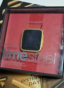 Pebble Time Steel 38mm Stainless Steel Case Red Band Smartwatch 511-00037 NIB
