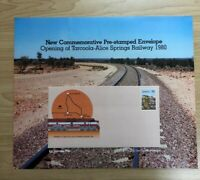 SP86a) 1980 Australia Post Poster First Day Cover Alice Springs Railway