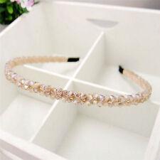 Champagne Fashion Women Bridal Crystal Beads Wedding Tiara Headband Hair Band