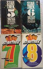 Star Trek Libros Lot of 4 original james blish 1970s TV Corgi en Rústica 5 6 7 8